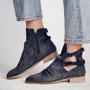 Women Autumn Winter Chunky Low Heel Fashion Ankle Boots