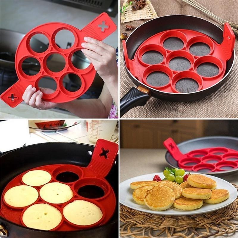 Creative Silicone Omelette Mould Pancake Fried Egg Ring Mold Kitchen Baking Tool