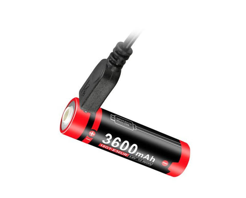 Intelligent USB port to directly recharge Klarus EUR 3600mAh