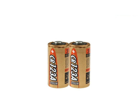 Pair of Ansmann CR123A 3V Li-ion Batteries