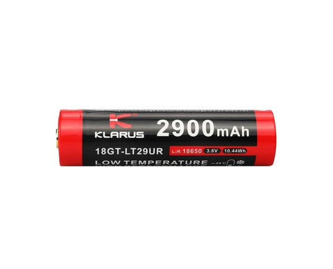 Klarus 18650 USB Rechargeable Battery - 2900 mAh Low Temperature