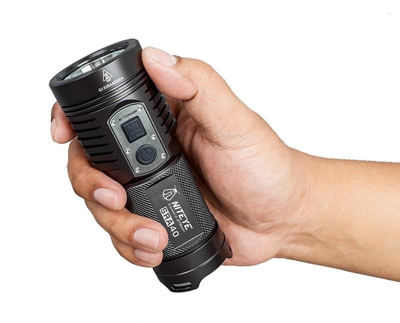 Niteye SRA40 Rechargeable AA Flashlight with XP-L LED & 1100 Lumens