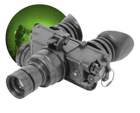 GSCI PVS-7 Single-Tube Night Vision Goggles Green Phosphor for Tactical Operations