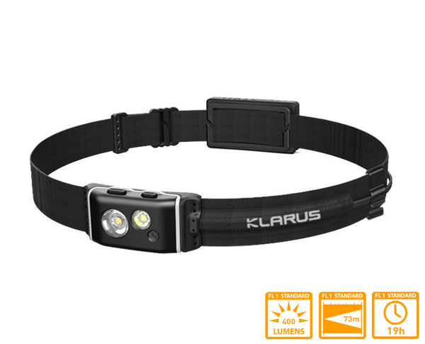 Klarus HR1 Pro Running Headlamp with Dual XP-G2 LEDs & 400 Lumens