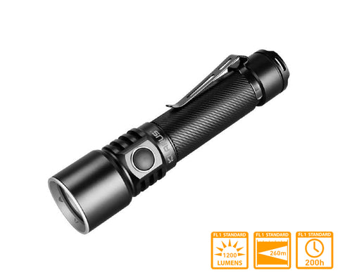 Klarus ST15R Rechargeable EDC Flashlight with XP-L HD V6 LED & 1200 Lumens