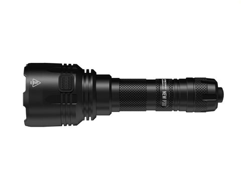 Strong knurling on the body of the P30 by Nitecore allows for easy grip