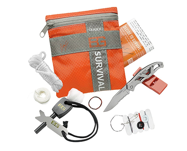 Gerber Bear Grylls Basic Survival Kit™ with all components expanded