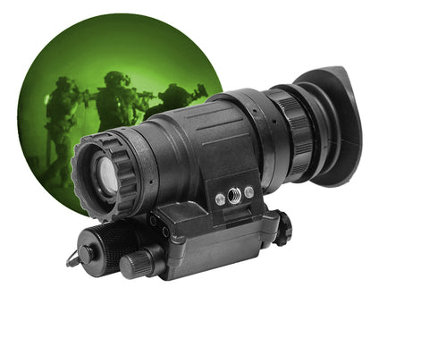 GSCI PVS-1451 Wide-FOV Night Vision Monocular / Add-on Green Phosphor for Tactical Operations