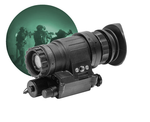 GSCI PVS-1451 Wide-FOV Night Vision Monocular / Add-on White Phosphor for Tactical Operations