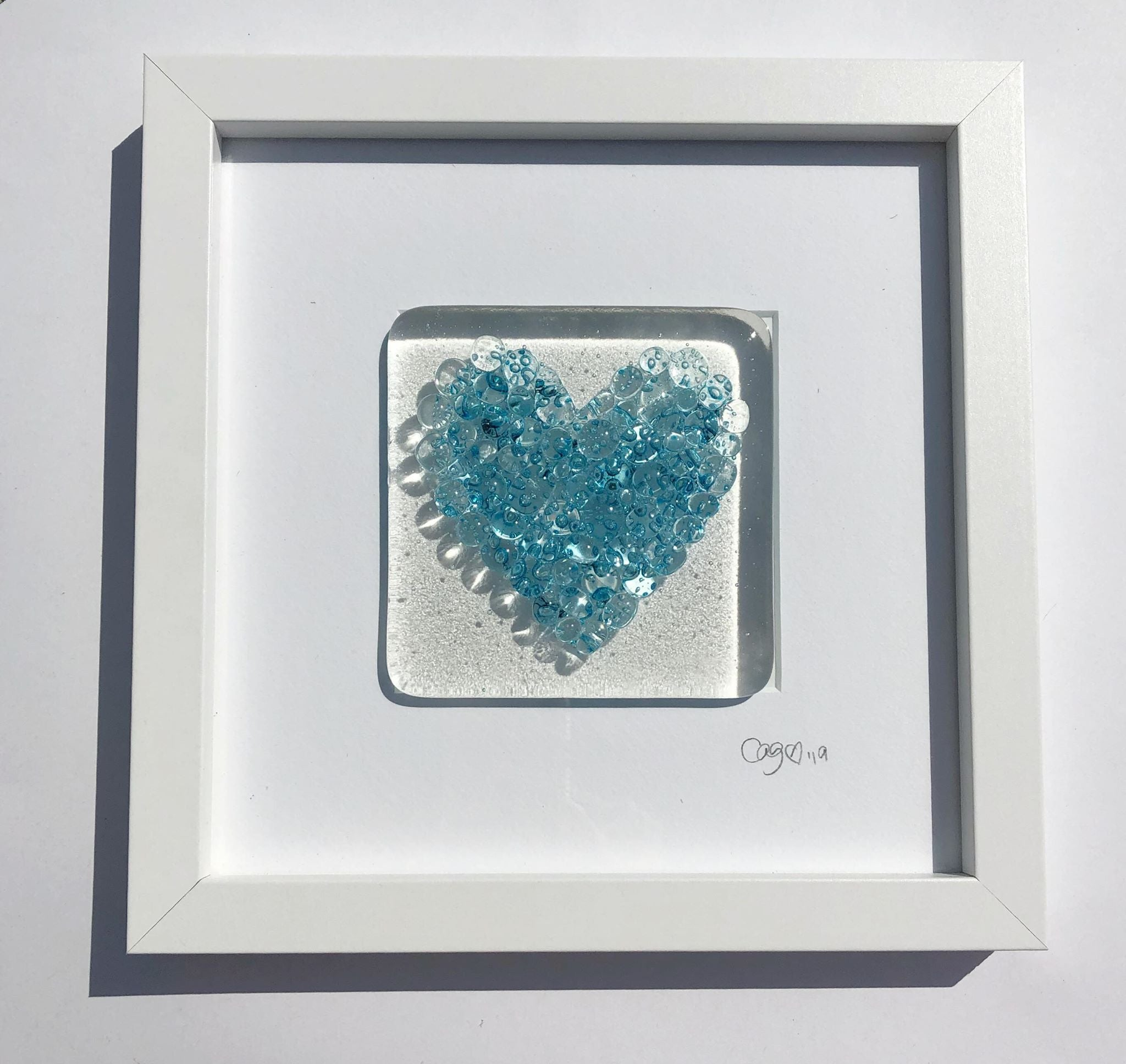 Turquoise Bubble Heart
