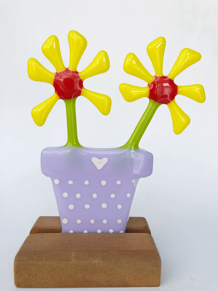 Yellow Daisy Flower Pot