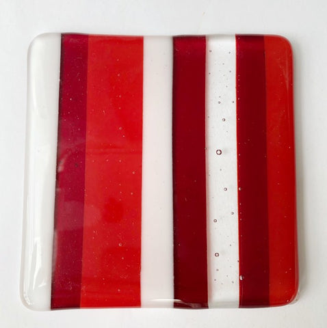 Red & White Stripe Coaster