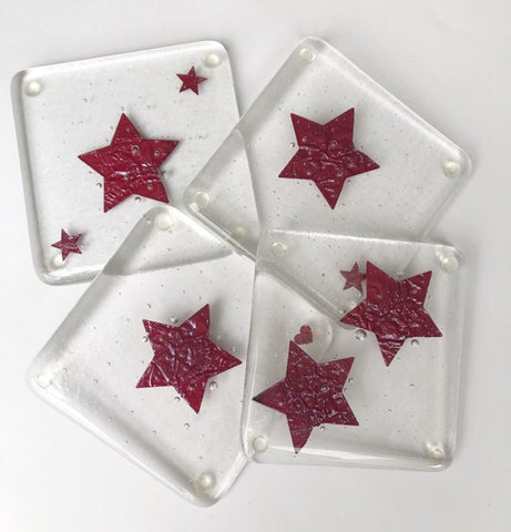 Copper Star Coaster Set