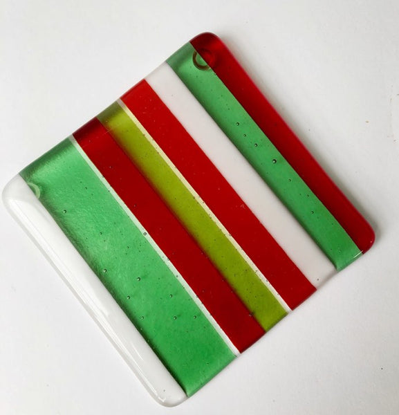Green & Red Stripe Coaster