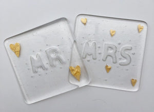Mr & Mrs Coaster Set
