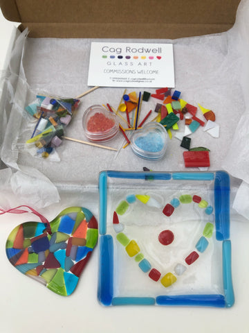 Make at Home Multicoloured Coaster and Heart Kit