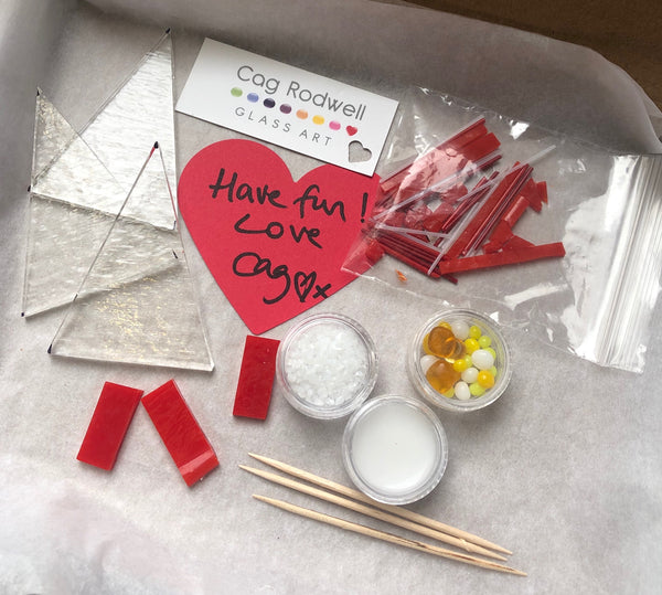 Make at Home Red and White Christmas Tree Kit
