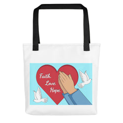 Faith Hope Love Tote bag