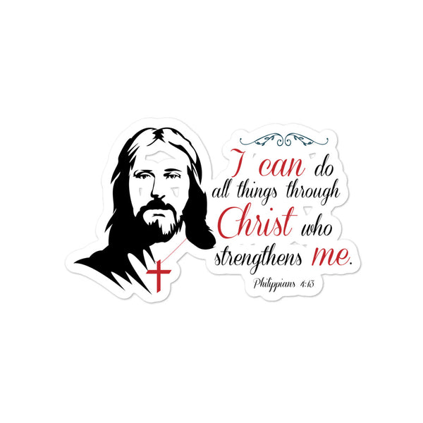 I can do all things through Christ Bubble-free stickers