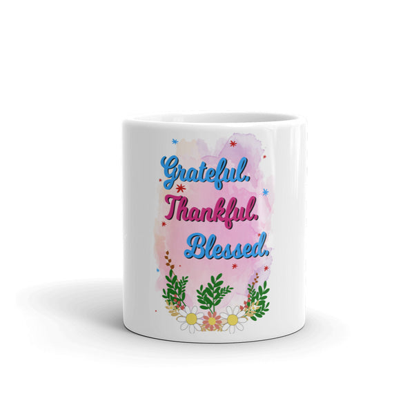 Grateful thankful blessed Mug
