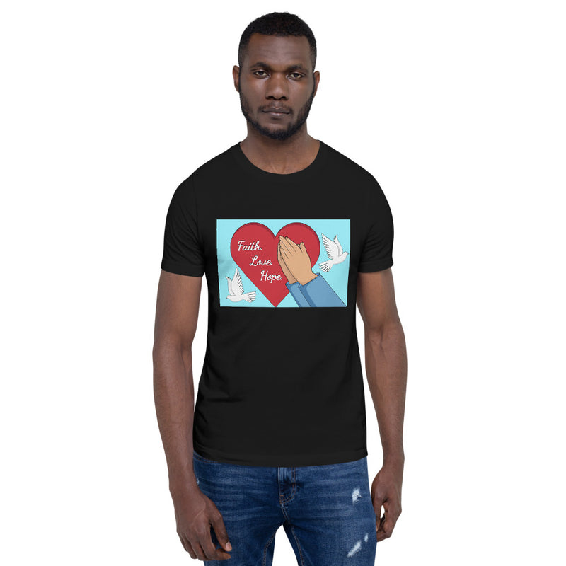 Faith Hope Love Short-Sleeve Unisex T-Shirt