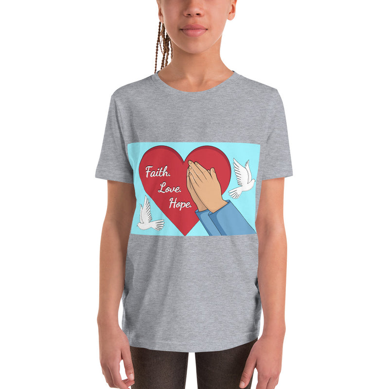 Faith Hope Love Youth Short Sleeve T-Shirt