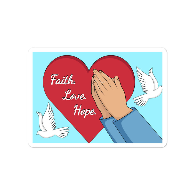 Faith Love Hope Bubble-free stickers