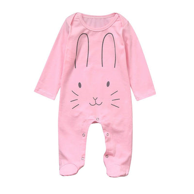 Baby Girl/Boy Lovely Smile Rabbit Jumpsuit