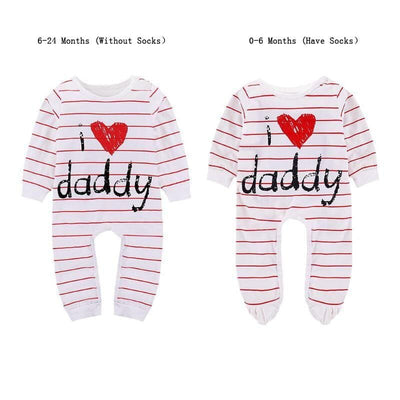 Lovely Printed Mummy/Daddy Jumpsuit Baby Girls/Boys