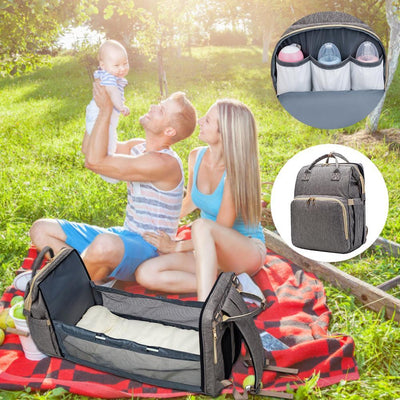 Paddie Diaper Bag 2 in 1 - Convertible Changing Pad