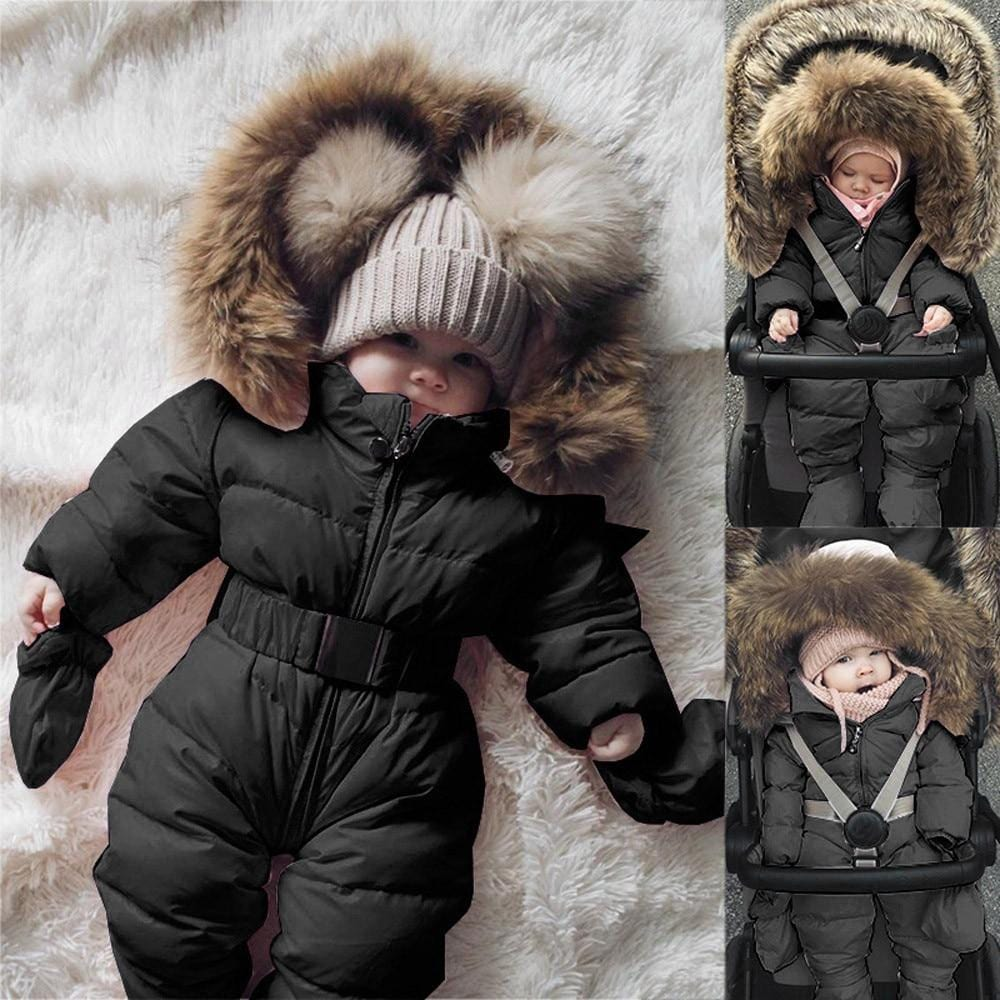 Baby Girl/Boys Adorable Full Body Warm Coat Hooded with Fur