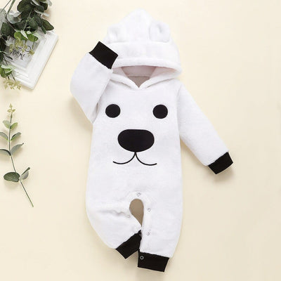 Trendy Bear Design Long-sleeve Jumpsuit for Baby Boy / Girl