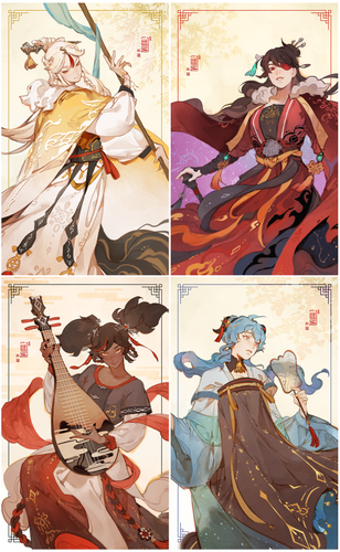 [PRE-ORDER] GI- Four beauties of Liyue Prints