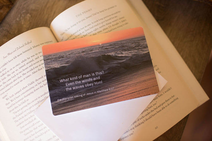 Waves in Sunset (with Scripture) Cards