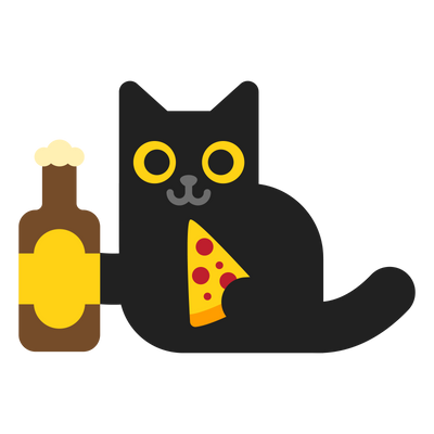 Beer, Pizza and Cat T-Shirt