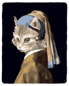 Girl With the Pearl Earring Cat T-Shirt