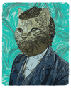 Van Gogh Self Portrait Cat T-Shirt