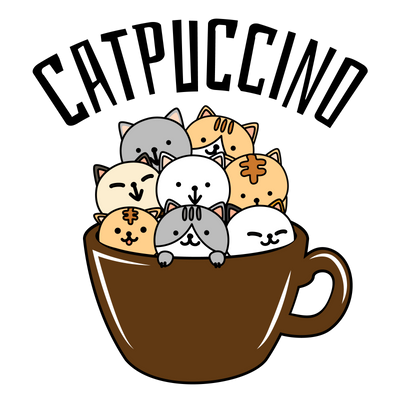 CatPuccino Coffee and Cats T-Shirt