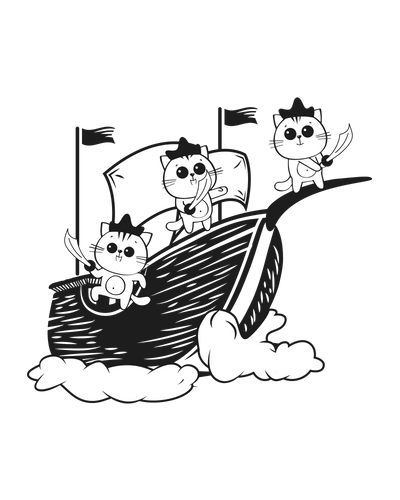 Pirate Cats T-Shirt