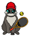 Game Set Match Tennis Cat T-Shirt