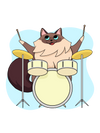 Drum Player Cat T-Shirt
