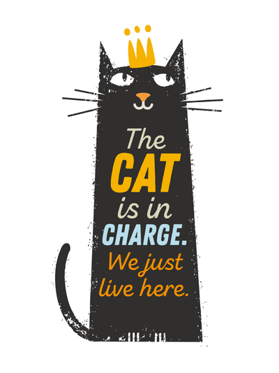 Cat Is In Charge We Just Live Here T-Shirt