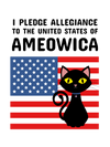 Pledge of Allegiance Cat T-Shirt