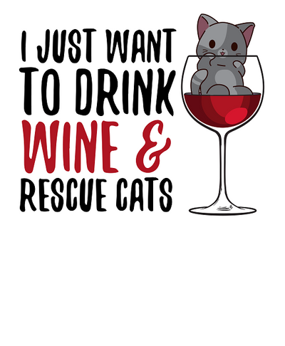 Drink Wine and Rescue Cats T-Shirt
