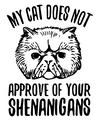 Cat Doesn't Approve Shenanigans T-Shirt