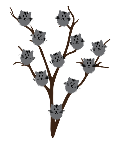 Fuzzy Cats on a Branch T-Shirt