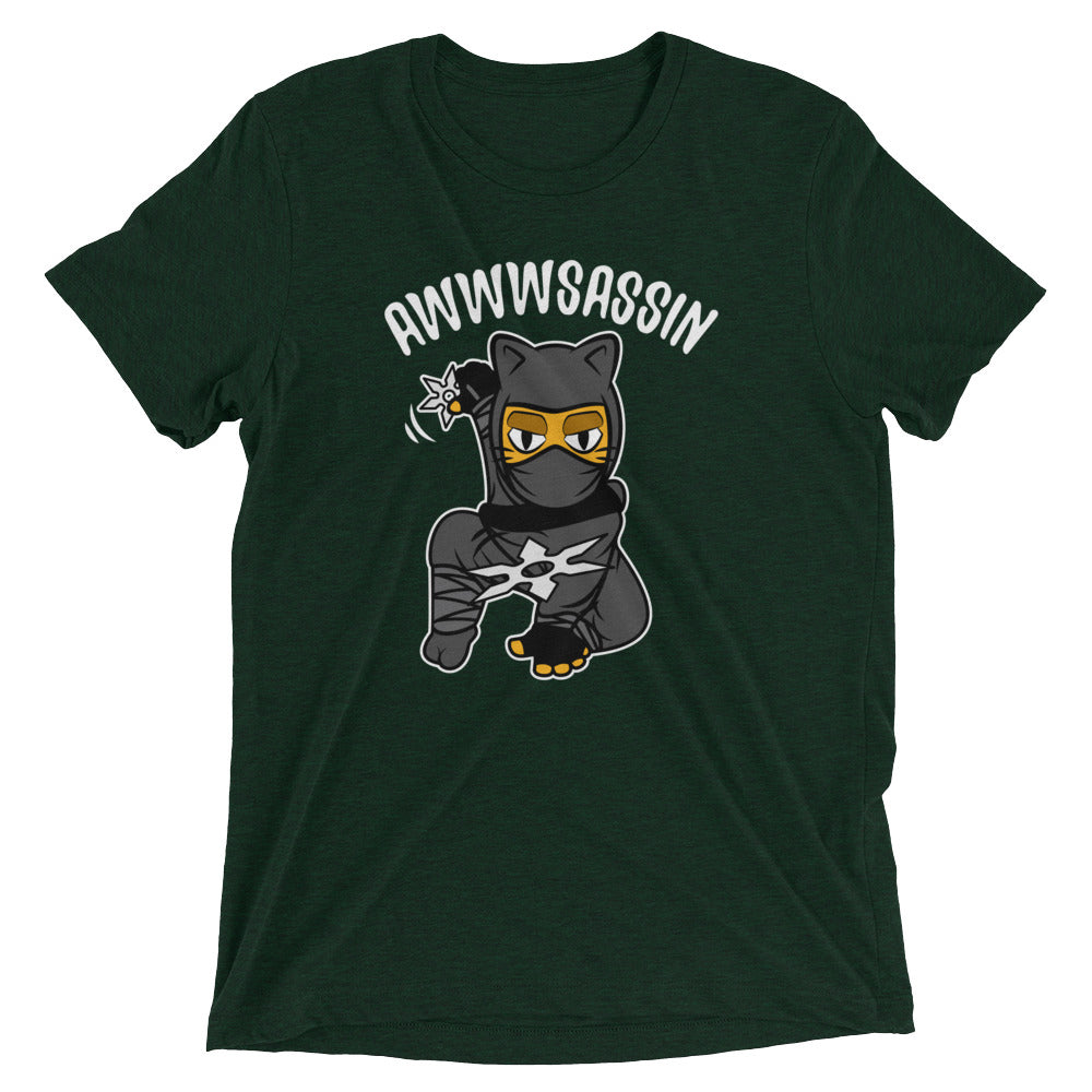 Awwwsassin Ninja Cat T-Shirt