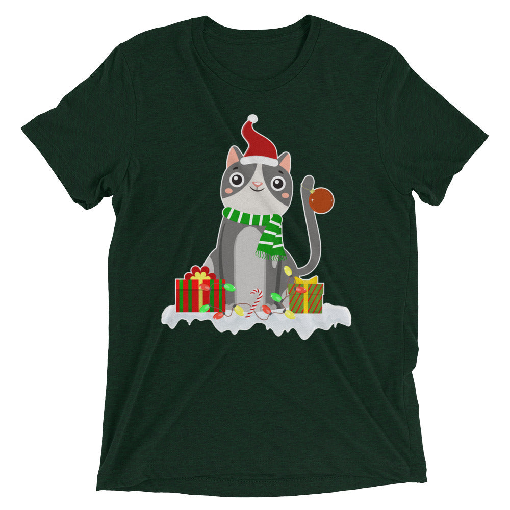 Decked Out Christmas Cat T-Shirt