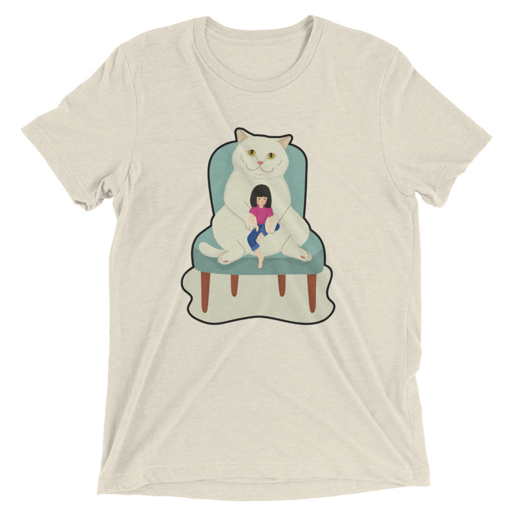 Human In Cat's Lap T-Shirt