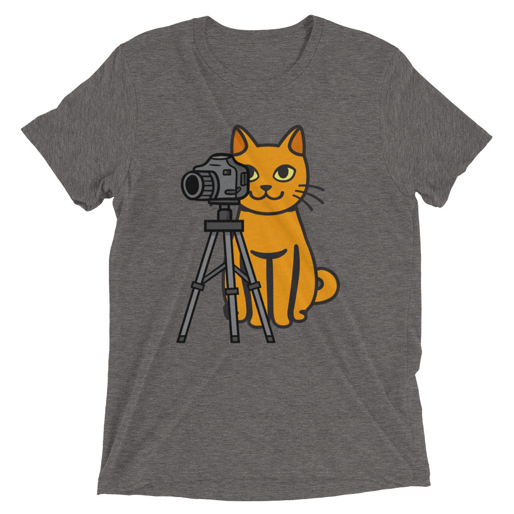 Tripod Photo Cat T-Shirt